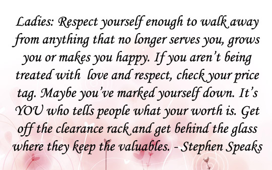 Respect Yourself - May 8 2014