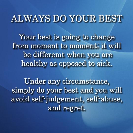 Always do your best - 7-24-2014