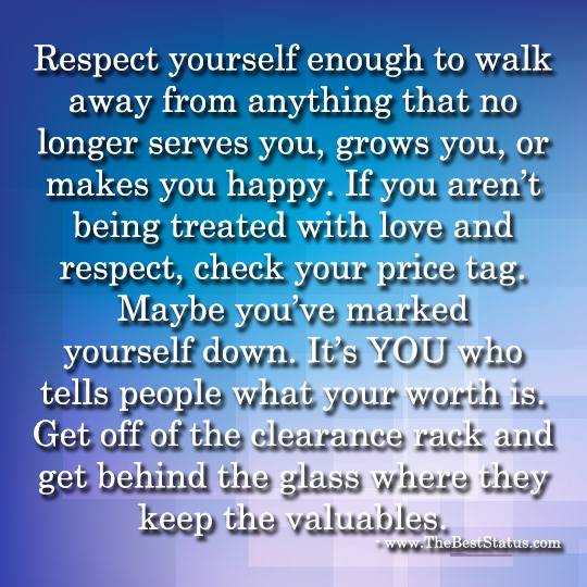 Respect Yourself - 7-24-2014