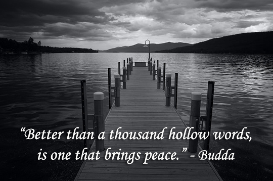 One Word That Brings Peace - 1-13-2015