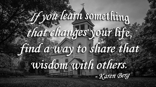 Share that wisdom with others - 02-26-2015
