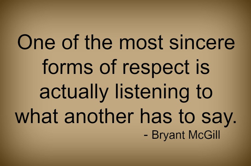 Sincere forms of respect - 3-3-2015